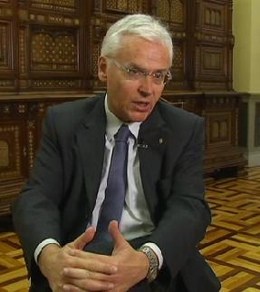 Imatge extreta de l'entrevista realitzada per TV3 a Ferran Mascarell